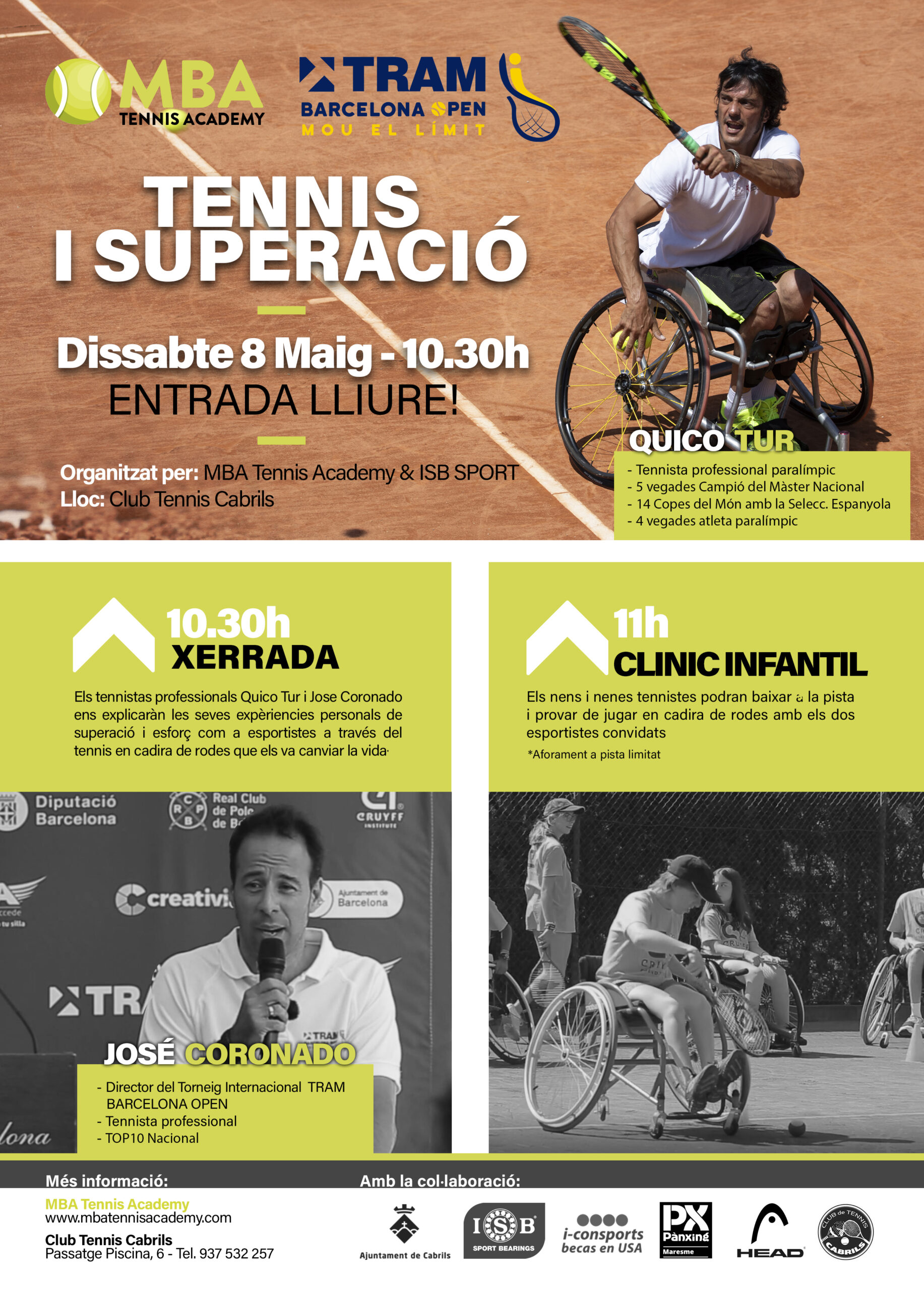 Clinic Infantil en silla de ruedas en MBA Tennis Academy