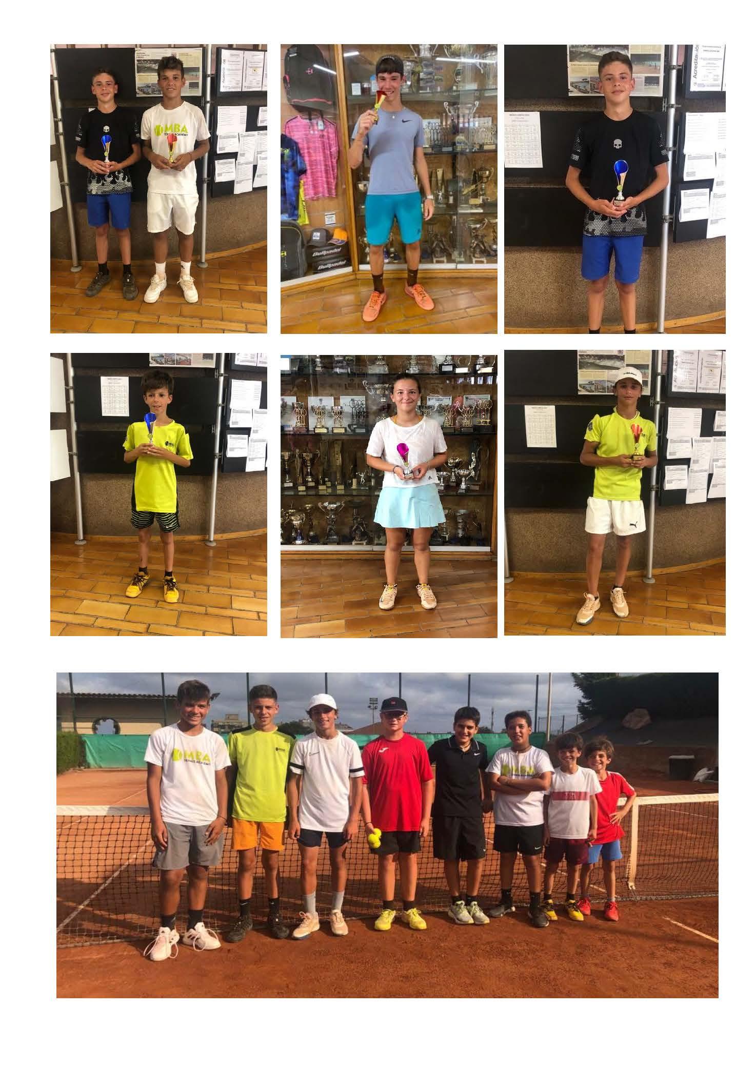 Alumnos Escuela de Tenis de Competición MBA Tennis Academy