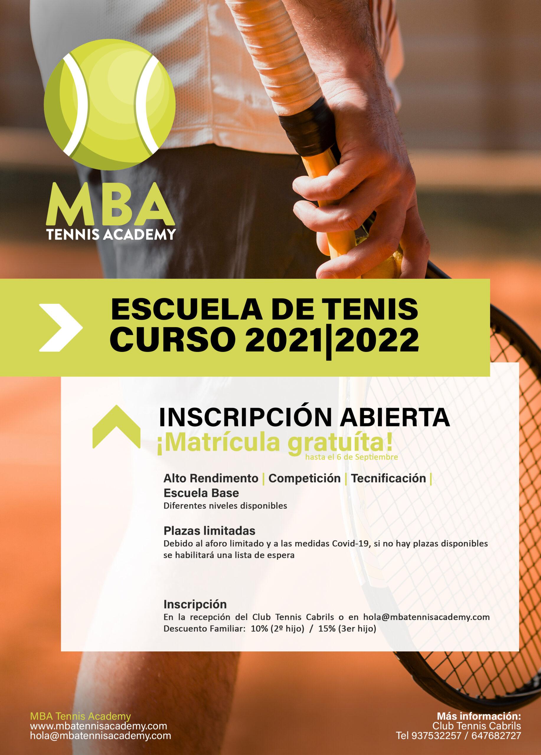 Escuela de tenis de Competicion
